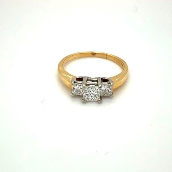 Estate Three-Stone Diamond Engagement Ring  Image 2 Toner Jewelers Overland Park, KS