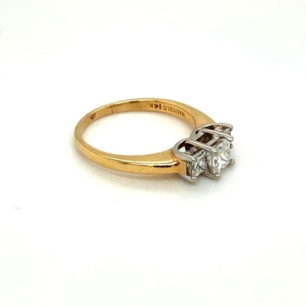 Estate Three-Stone Diamond Engagement Ring  Image 3 Toner Jewelers Overland Park, KS