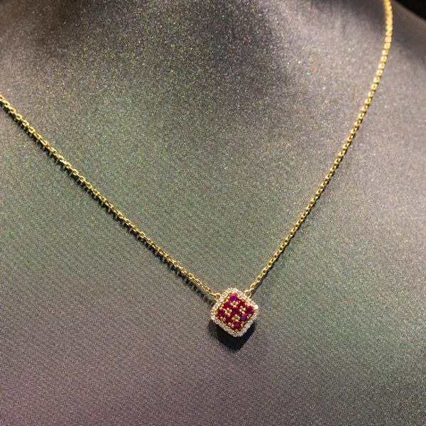 Ruby & Diamond Gold Necklace Toner Jewelers Overland Park, KS