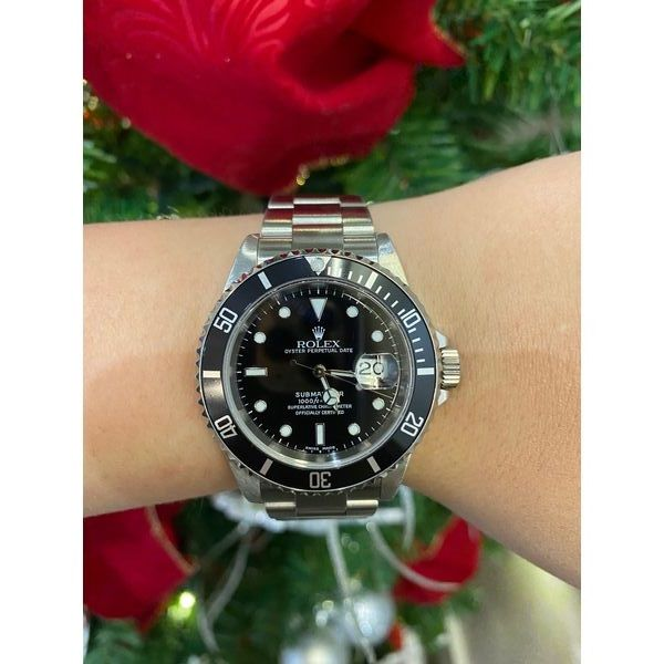 Rolex Submariner oyster bracelet with black dial 40mm