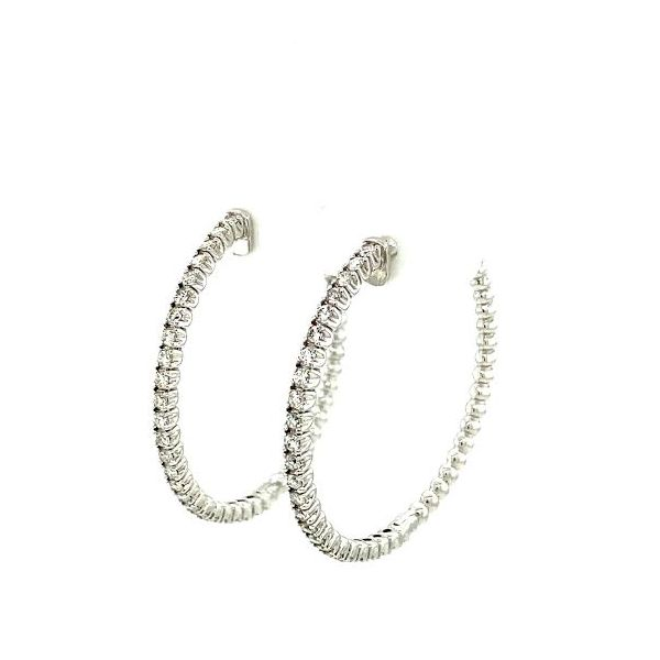 Diamond Hoops Image 3 Toner Jewelers Overland Park, KS