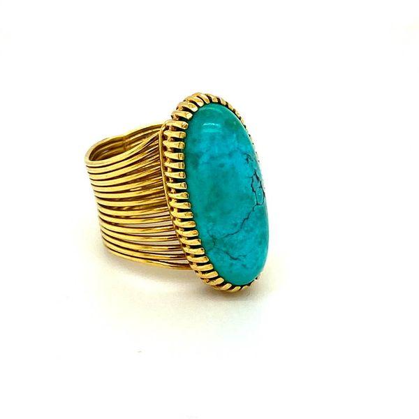 Lady's Estate Turquoise Ring Image 2 Toner Jewelers Overland Park, KS