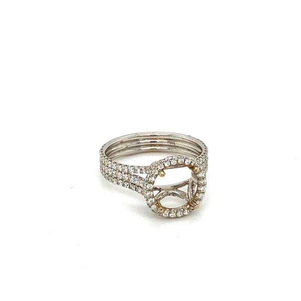 Triple Diamond Shank Engagement Ring Setting Image 2 Toner Jewelers Overland Park, KS
