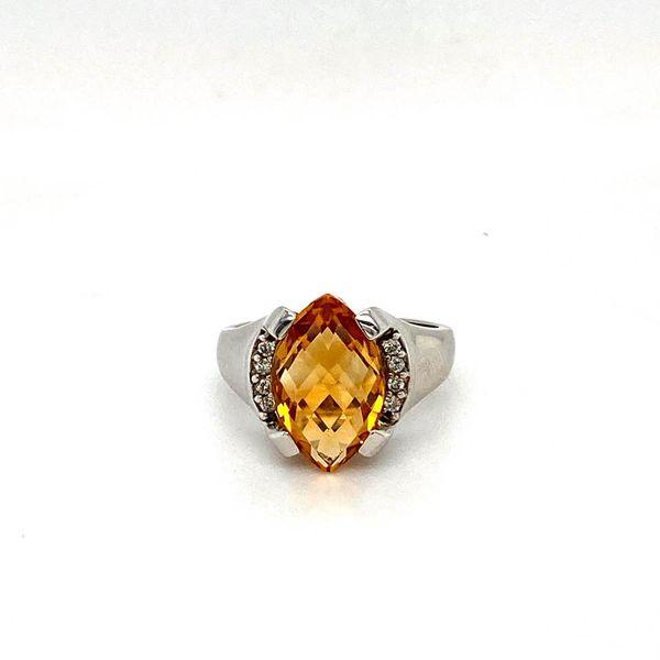 Marquise Citrine & Diamond Ring Toner Jewelers Overland Park, KS