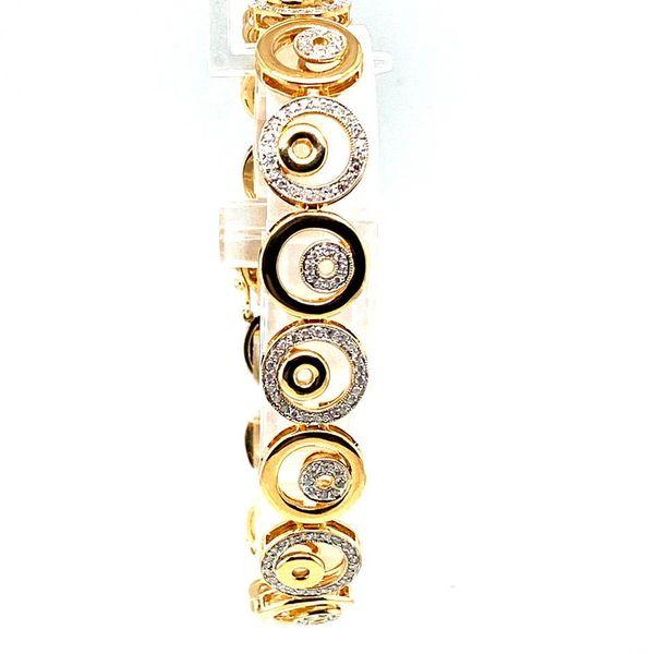 Estate Yellow Gold Diamond Circle Bracelet Toner Jewelers Overland Park, KS
