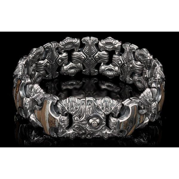 Aleksius Woolly Mammoth Tooth Men's Bracelet Image 3 Toner Jewelers Overland Park, KS