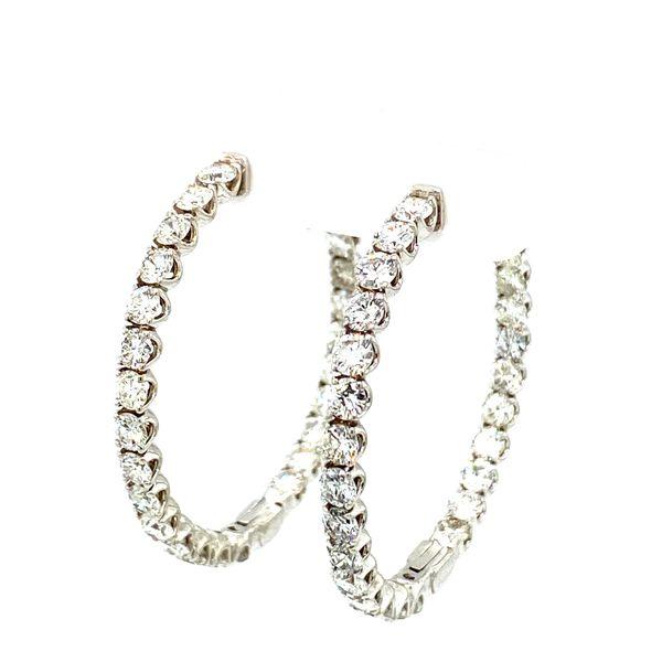 Diamond Hoop Earrings Image 2 Toner Jewelers Overland Park, KS