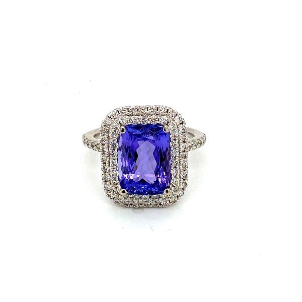 Tanzanite and Diamond Halo Ring Toner Jewelers Overland Park, KS