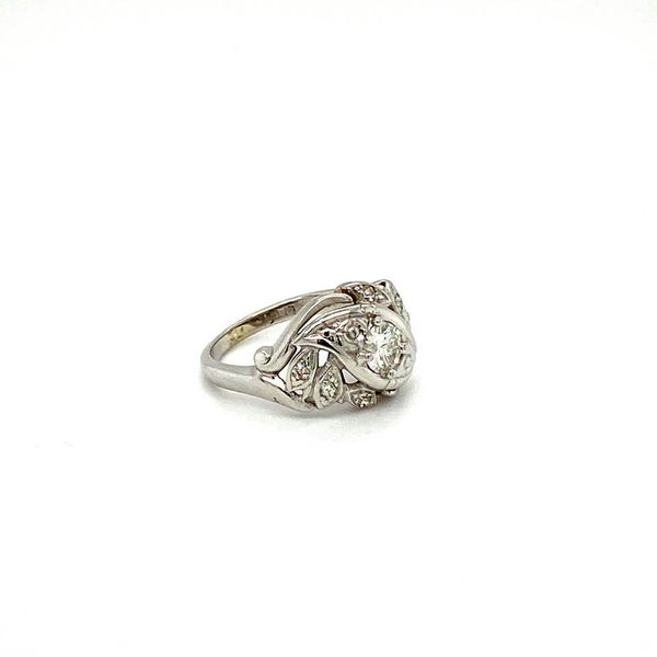 Estate Art Nouveau Diamond Ring  Image 3 Toner Jewelers Overland Park, KS