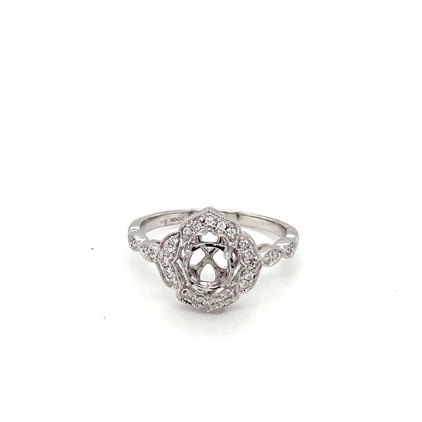 Milgrain Vintage Engagement Ring Setting Toner Jewelers Overland Park, KS