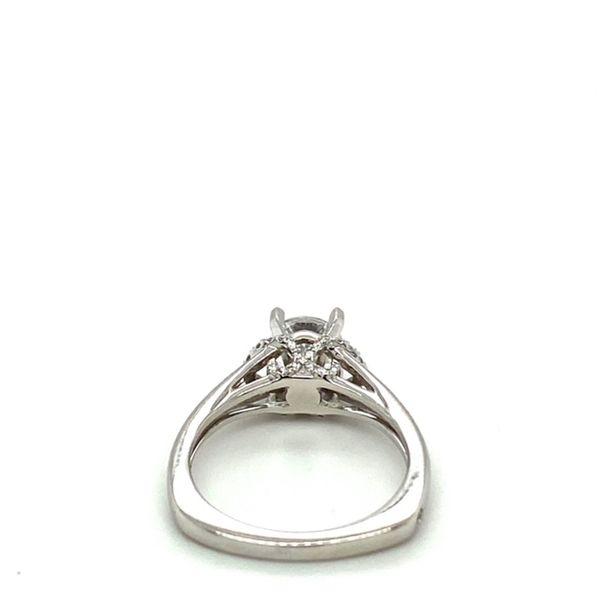White Gold Diamond Engagement Ring Setting Image 4 Toner Jewelers Overland Park, KS