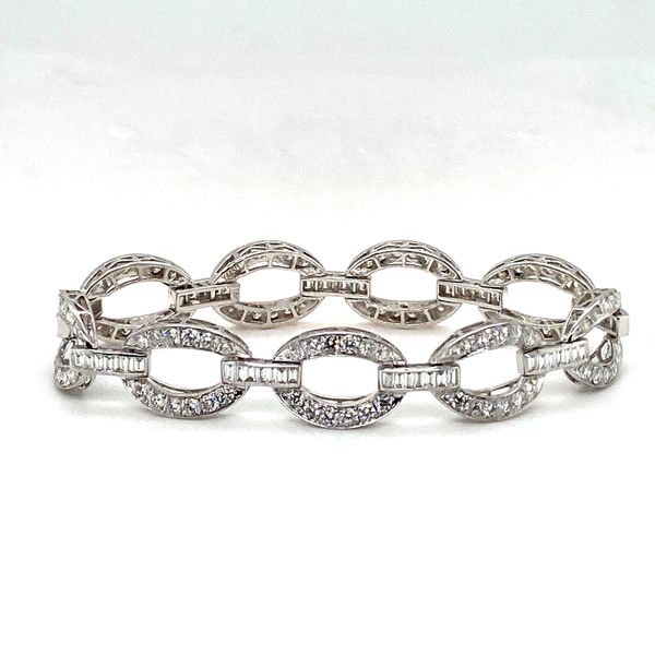 Diamond Link Bracelet Image 2 Toner Jewelers Overland Park, KS
