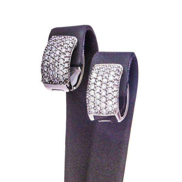 Huggie Style Diamond Hoop Earrings Toner Jewelers Overland Park, KS