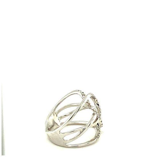 White Gold and Diamond Fashion Ring Image 3 Toner Jewelers Overland Park, KS