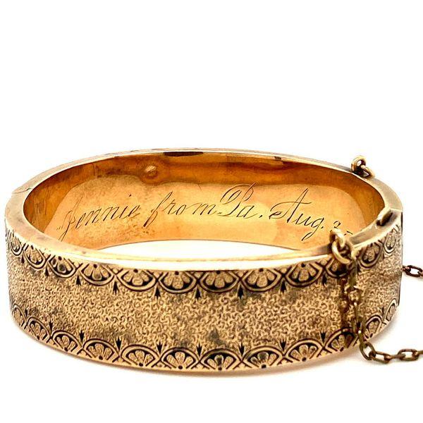 Antique Gold Bangle from 1887 Image 2 Toner Jewelers Overland Park, KS