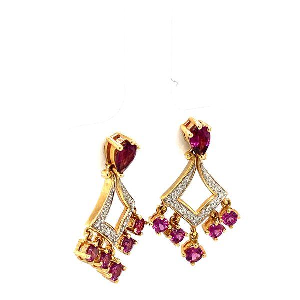 Estate Garnet Earrings Image 2 Toner Jewelers Overland Park, KS