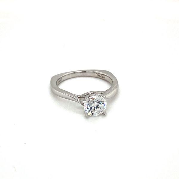 14K White Gold Engagement Ring Setting Image 2 Toner Jewelers Overland Park, KS