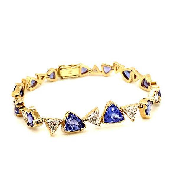 Estate Tanzanite and Diamond Bracelet Toner Jewelers Overland Park, KS