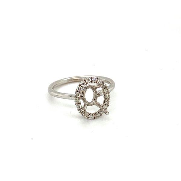 Oval Engagement Ring Setting Image 2 Toner Jewelers Overland Park, KS