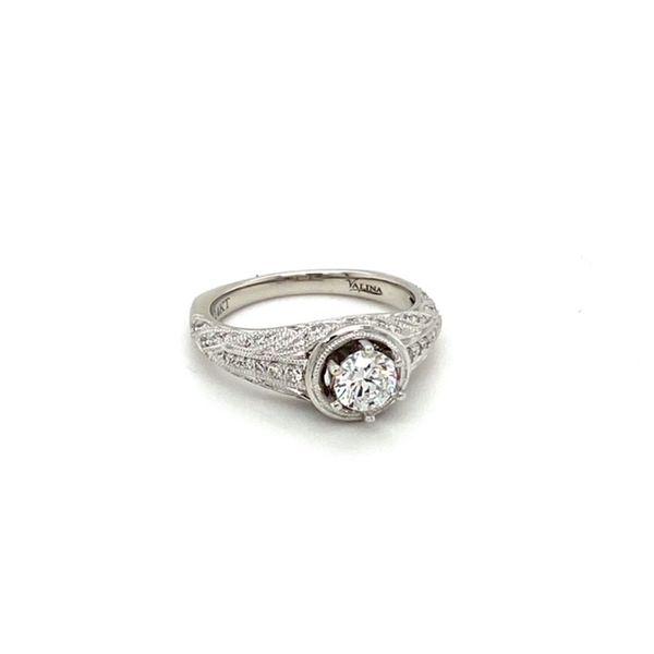 Engagement Ring Setting with Milgrain Image 2 Toner Jewelers Overland Park, KS