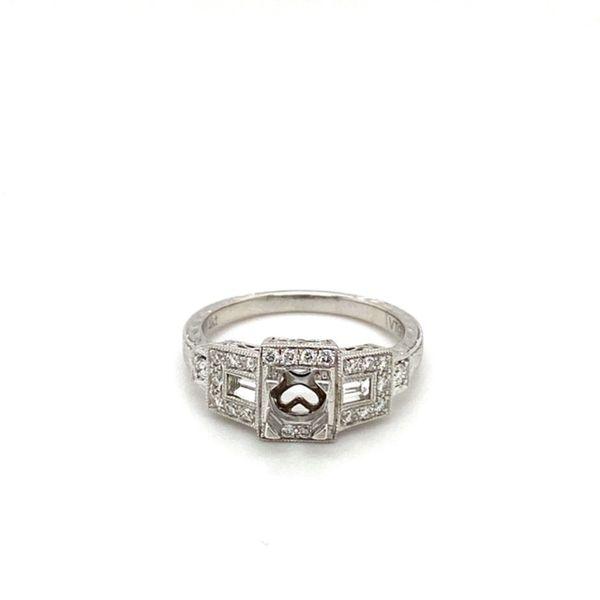 Geometric Diamond Engagement Ring Setting Toner Jewelers Overland Park, KS