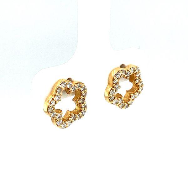Estate Diamond Flower Studs Image 2 Toner Jewelers Overland Park, KS