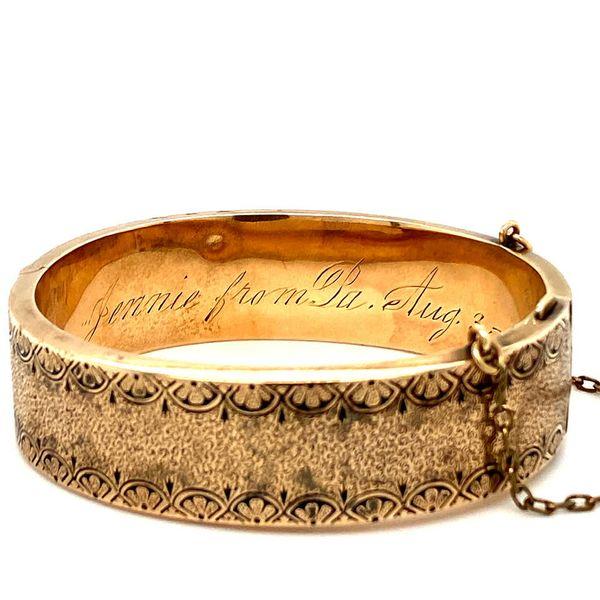 Antique Gold Bangle from 1887 Image 3 Toner Jewelers Overland Park, KS