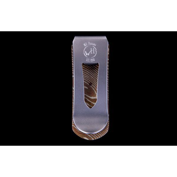 Mokume Money Clip with inlaid Cocobolo Wood Image 3 Toner Jewelers Overland Park, KS