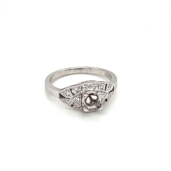 Vintage Diamond Engagement Ring Setting Image 2 Toner Jewelers Overland Park, KS