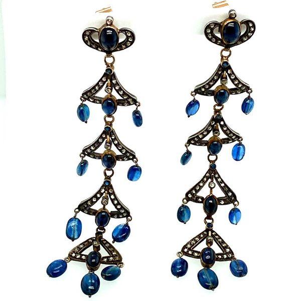 Lady's Antique Sapphire and Diamond Earrings Toner Jewelers Overland Park, KS