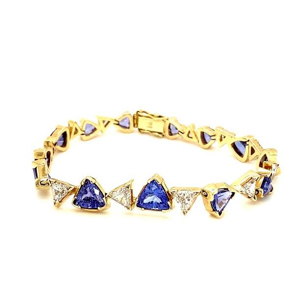 Estate Tanzanite and Diamond Bracelet Image 2 Toner Jewelers Overland Park, KS