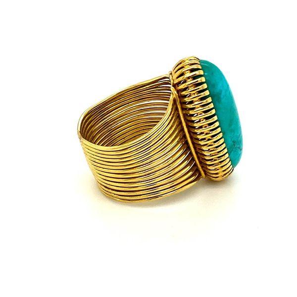 Lady's Estate Turquoise Ring Image 3 Toner Jewelers Overland Park, KS
