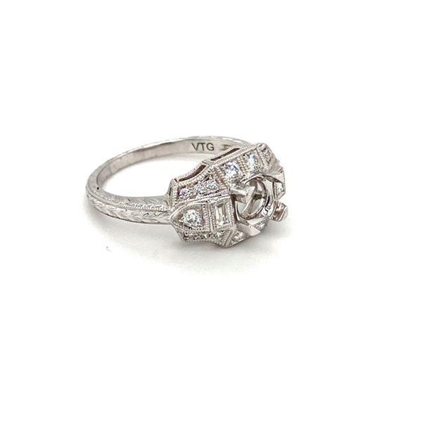 14K White Gold Diamond Engagement Ring Image 3 Toner Jewelers Overland Park, KS