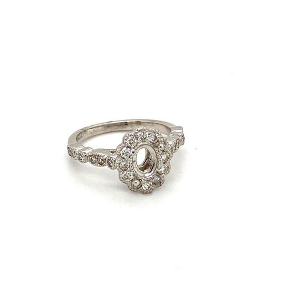 Charming Vintage Engagement Ring Setting Image 2 Toner Jewelers Overland Park, KS