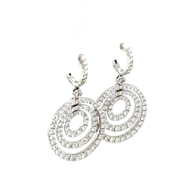 Diamond Circle Earrings Image 2 Toner Jewelers Overland Park, KS