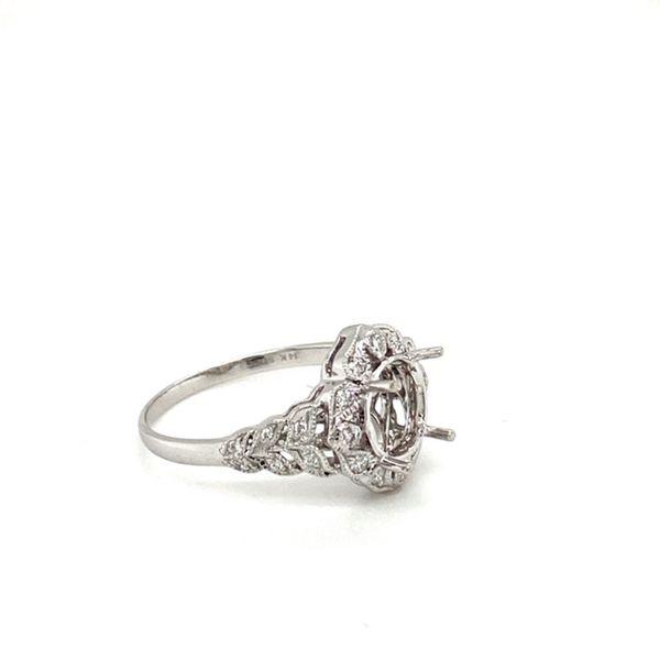 Floral Halo Diamond Engagement Ring Setting Image 4 Toner Jewelers Overland Park, KS