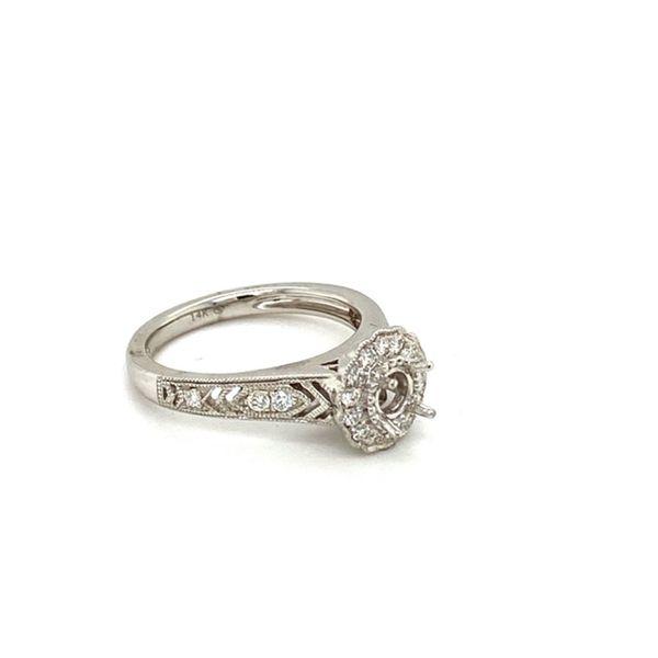 Diamond Engagement Ring Setting with Flower Halo Image 3 Toner Jewelers Overland Park, KS