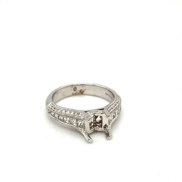 14K White Gold Diamond Engagement Ring Setting  Image 2 Toner Jewelers Overland Park, KS
