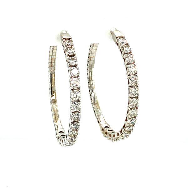 4cttw Diamond Inside-Outside Hoops Image 2 Toner Jewelers Overland Park, KS