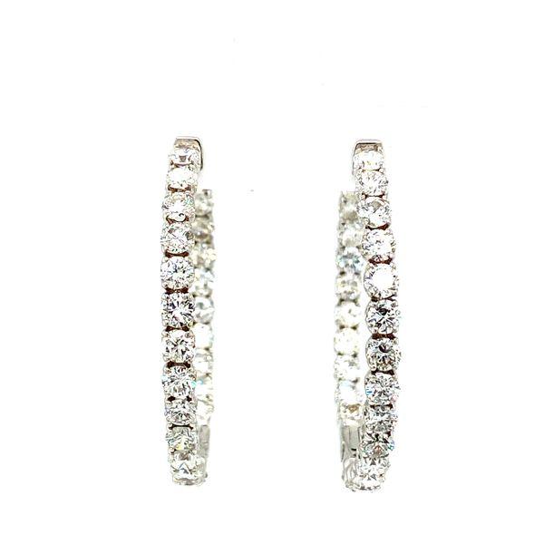 Diamond Hoop Earrings Image 3 Toner Jewelers Overland Park, KS