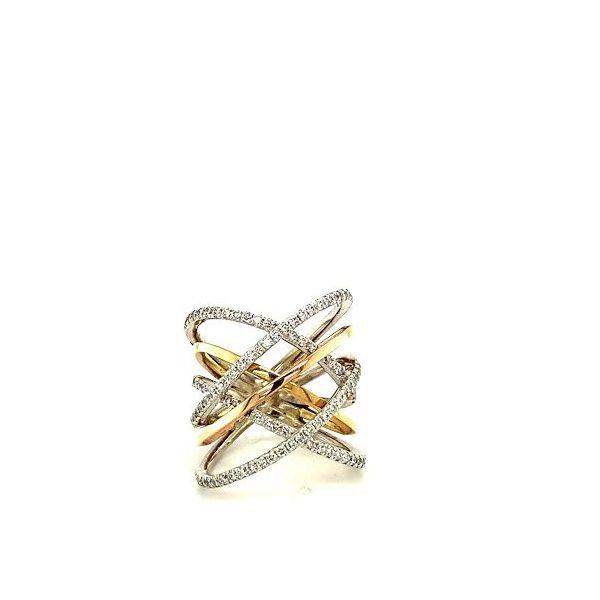 Tri-Gold Diamond Ring  Image 2 Toner Jewelers Overland Park, KS