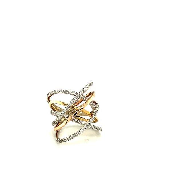 Tri-Gold Diamond Ring  Image 3 Toner Jewelers Overland Park, KS