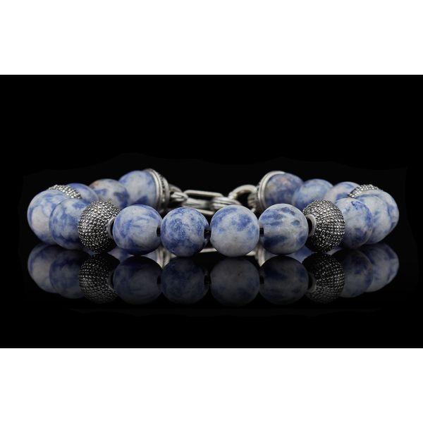 Pacific Ocean Sodalite Bead Men's Bracelet Image 3 Toner Jewelers Overland Park, KS