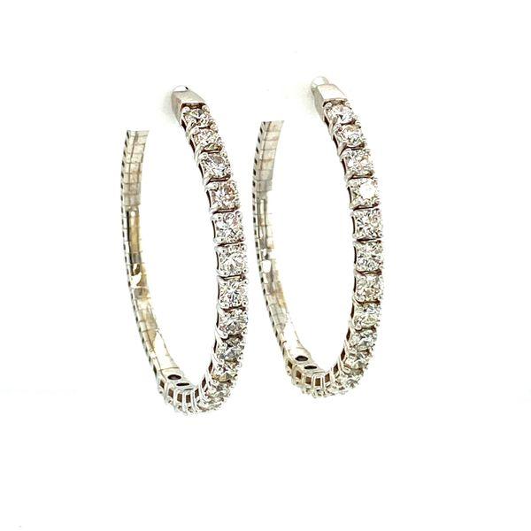4cttw Diamond Inside-Outside Hoops Image 3 Toner Jewelers Overland Park, KS