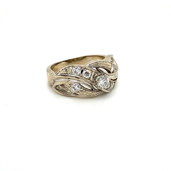 Diamond Estate Scrollwork Ring Image 3 Toner Jewelers Overland Park, KS