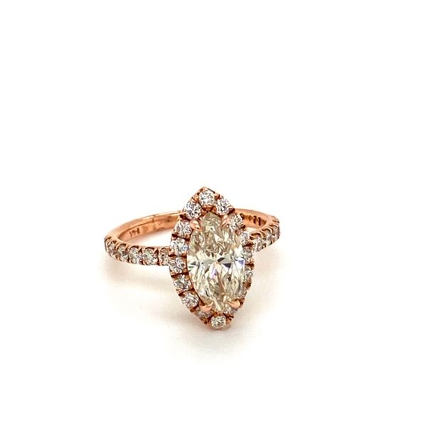 Rose Gold, Marquise Engagement Ring  Image 2 Toner Jewelers Overland Park, KS