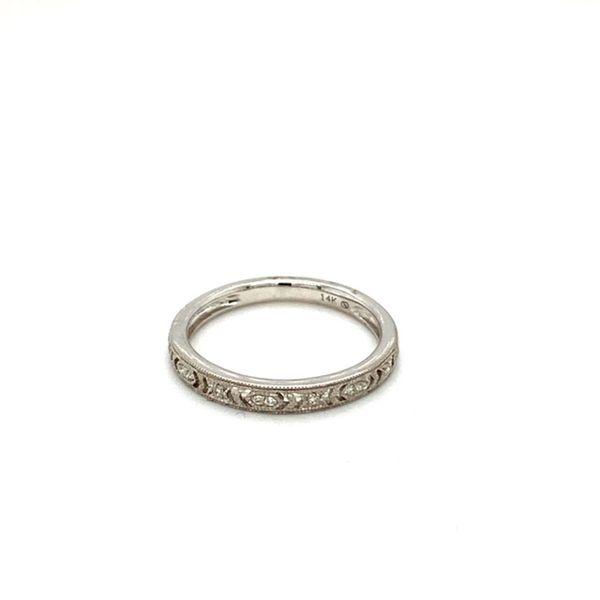 Diamond Wedding Band with Filigree and Milgrain Toner Jewelers Overland Park, KS