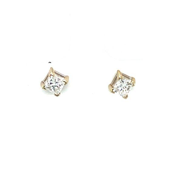 Princess Cut Diamond Studs Toner Jewelers Overland Park, KS