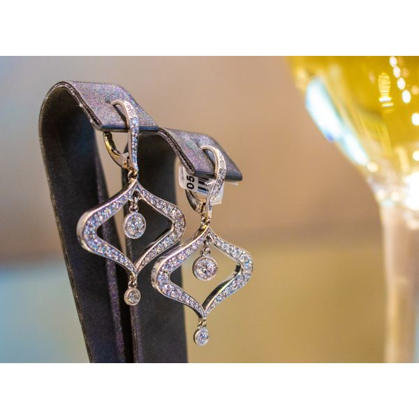 Teardrop Dangle Diamond Earrings Toner Jewelers Overland Park, KS