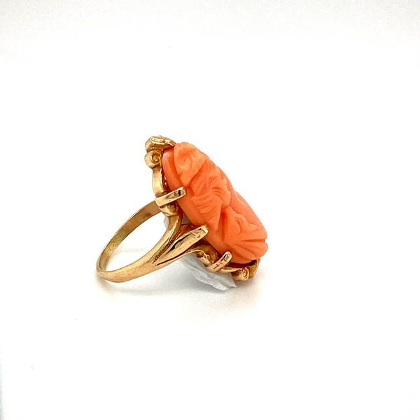Lady's Vintage Coral Ring Image 3 Toner Jewelers Overland Park, KS